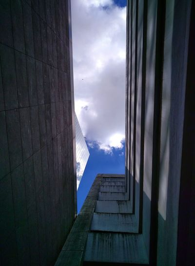 Blue Sky Building Exterior Urban Geometry Cityexplorer Taking Photos Mobilephotography Urbanexploration Enjoying Life Random Architecture Discover Your City Light And Shadow Look Up Angles And Lines Walking Around Clouds And Sky