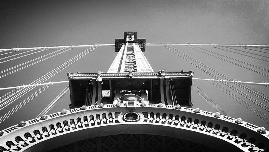 Manhattan Bridge, Black and White, From Brooklyn to Manhattan, NYC Architecture Unique Perspectives From Brooklyn To Manhattan Black And White