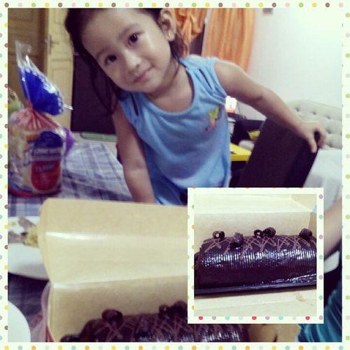 💜🍰 Triplechocolatecake Sweets Dessert Redribbon