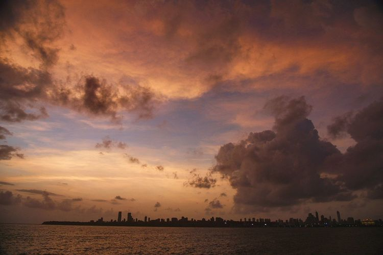 Sunsets in mumbai! EyeEm Selects Sunset Water Outdoors City Sky Travel Nature Landscape Summer Outdoor Travel Photography EyeEm Best Shots