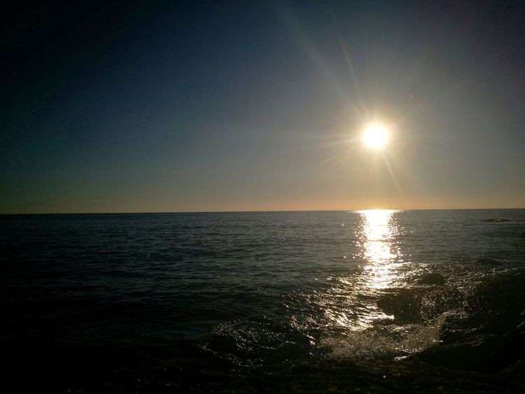 Sea Horizon Over Water Scenics Tranquil Scene Beauty In Nature Reflection Travel Destinations Sunlight No People Water