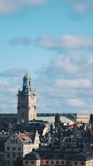 Stockholm cathedral with cityscape against sky