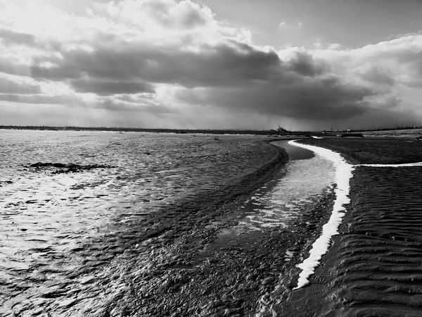Blackandwhite Photography Scenics No People Wave Outdoors