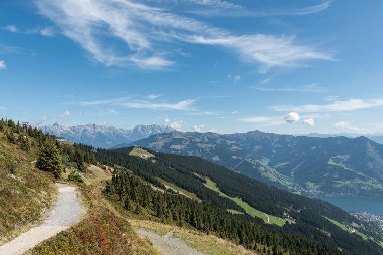 Berge Himmel Pinzgau Salzburger Land Schmittenhöhe Spätsommer  Wolken Zell Am See Steinernes Meer Österreich