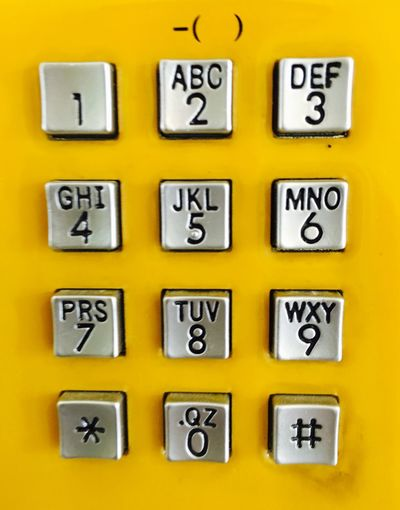 Close-Up Of Numbers And Letters On Telephone