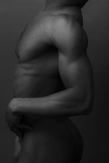 Black river Blackandwhite Black And White Portrait Model Abdomen Human Back Black Background Young Women Back Muscular Build Females Studio Shot The Human Body Side View Bicep Flexing Muscles Strength Training Torso Shoulder Masculinity Human Muscle My Best Photo
