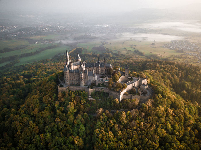 One of Germany's most beautiful castles, photographed during a foggy autumn morning. Autumn Baden-Württemberg  Burg Castle DJI Mavic Pro Deutschland Drone  Fall Beauty Morning Architecture Building Exterior Built Structure Burg Hohenzollern Castle Ruin Day Dronephotography Fall Fog Foggy Morning Germany Hohenzollern  No People Outdoors Tree