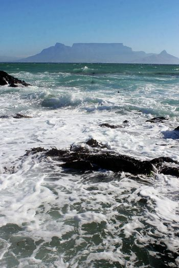Table Mountain Beauty In Nature Day False Bay Land Mountain Nature No People Outdoors Power In Nature Scenics - Nature Sea Water Waterfront