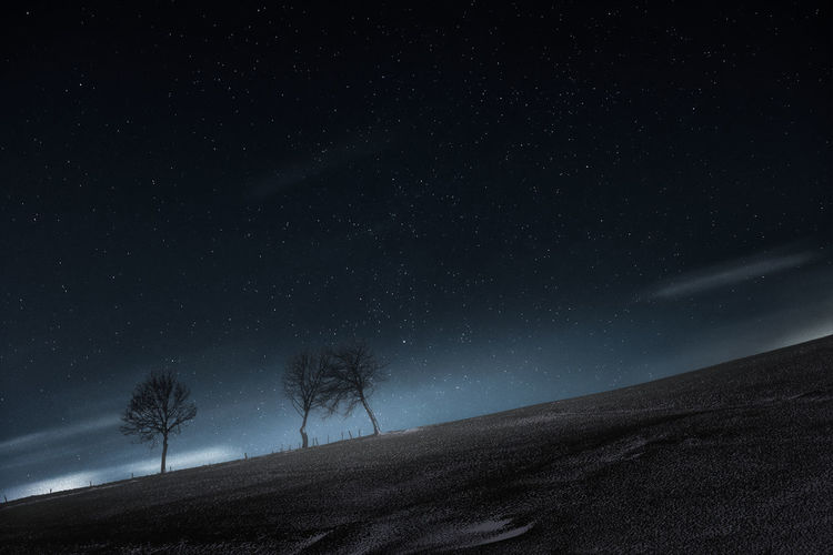 A new world. Astronomy Beauty In Nature Galaxy Landscape Nature Night No People Outdoors Scenics Sky Space Star - Space Star Field Starry Tranquil Scene Tranquility Tree EyeEm Ready