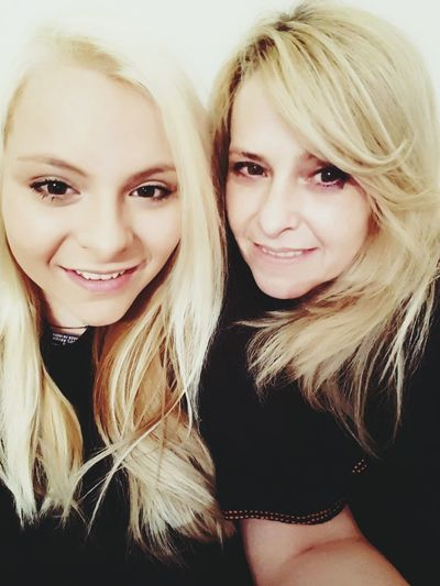 My Mom♥ I Love My Family My Beautiful Mom Young Women Best Friends Love Forever Two Blondies Mother And Daughter Blond Hair Looking At Camera Long Hair Portrait Smiling