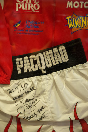 Boxing Eyeem Philippines Flames Jacket Pacquiao Philippines Shorts Sign Signed Sponsor