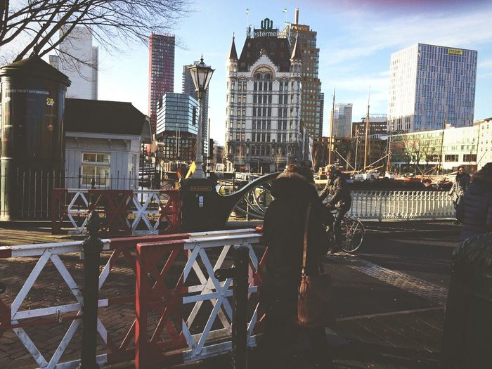 Old Rotterdam. Bridge Rotterdam Thenetherlands Spanish Quartier