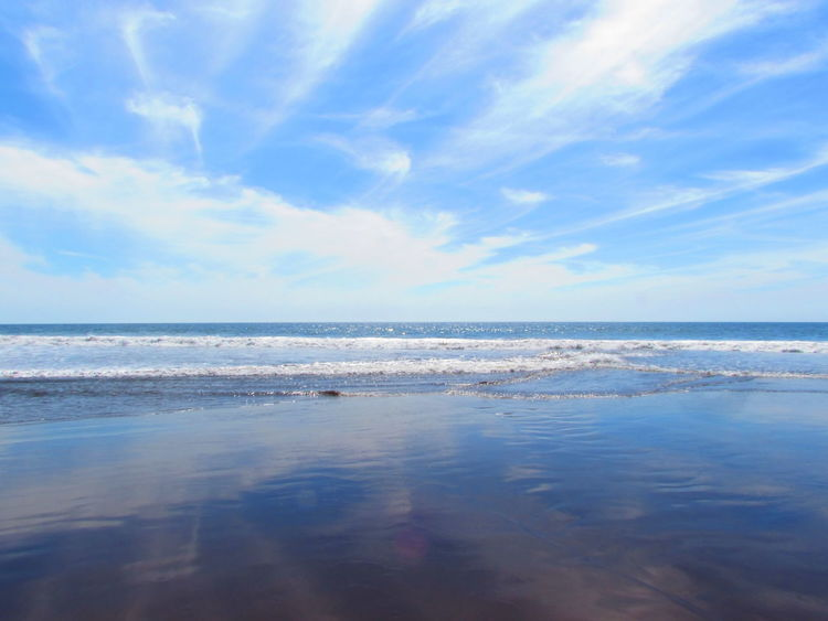 Beach Beauty In Nature Cloud - Sky Day Horizon Over Water Nature No People Outdoors Reflection Sand Scenics Sea Sky Tranquil Scene Tranquility Water