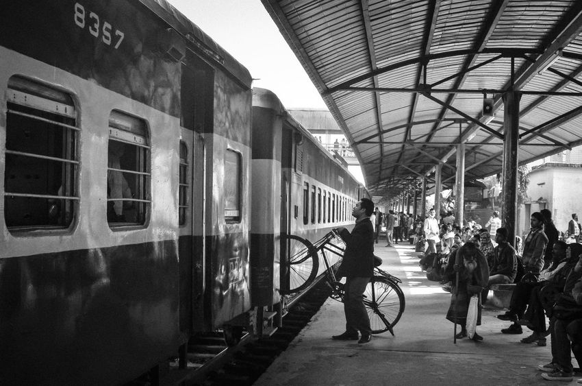 Life around Railway Station (B&W) Animal Bangladesh Blackandwhite Dhaka Documentation Older People People Photography Platform Rail Transportation Railway Railway Station Railway Track Rhsumon Story Worldbest Young Adult Focus On The Story