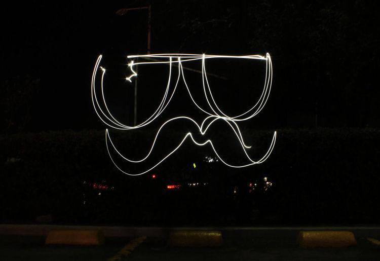 Lightpainting Night Street Mustache Glasses Light Igersgdl López Mateos
