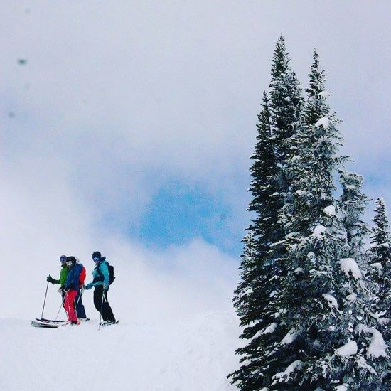 Revelstokemountainresort Winter Snow Cold Temperature Skiing Togetherness Outdoors Friends Sports