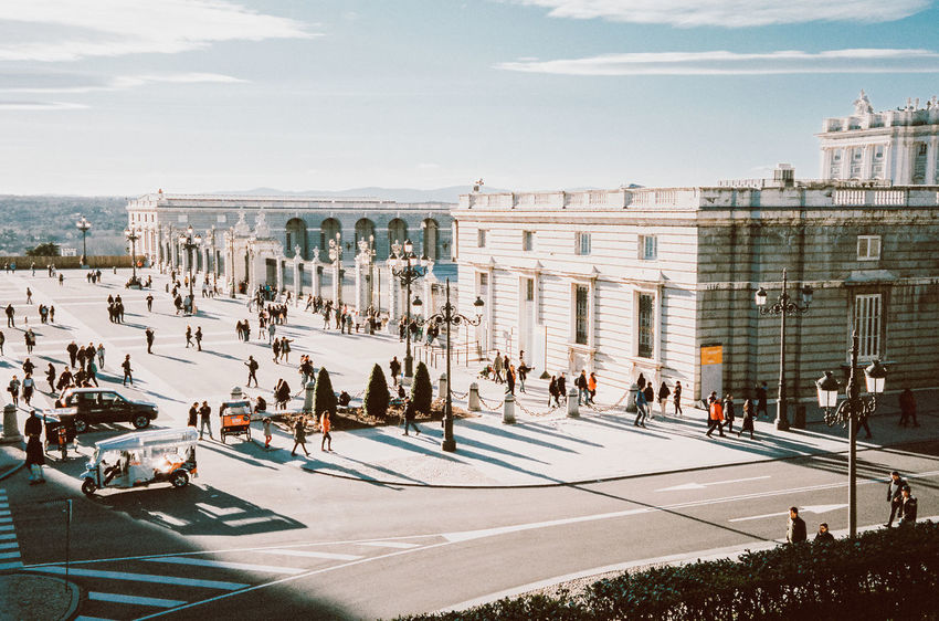 Architecture Building Exterior Built Structure City Crowd Day Group Of People Large Group Of People Lifestyles Men Nature Outdoors Real People Road Sky Street Sunlight Tourism Travel Women