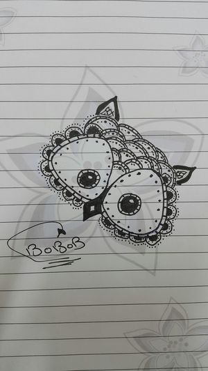 Hi My Drawing 😍 Owl In My School