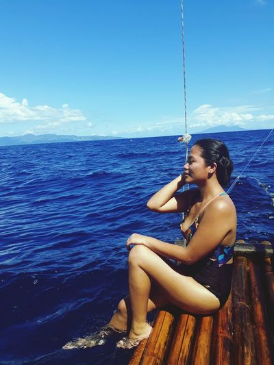 when the bluest ocean and lighter skies meet my summer!! such a gateaway!! Underwater Summer Sky Seascape Horizon Over Water Tide Ocean