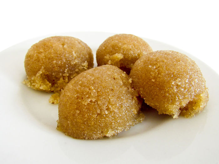 Semolina Dessert - Turkish Cuisine Bun Close-up Deep Fried  Dessert Fast Food Food Food And Drink Freshness Indoors  No People Plate Ready-to-eat Semolina Semolina Dessert Snack Turkish Cuisine Unhealthy Eating White Background