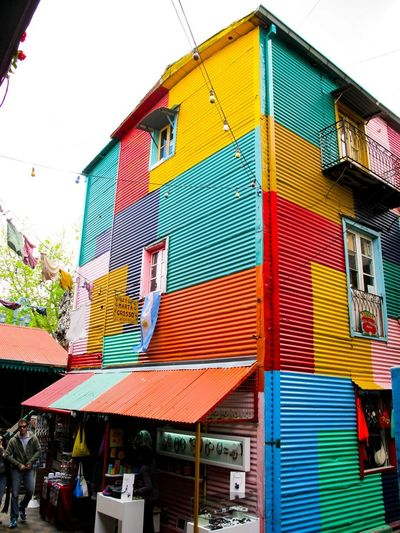 Colorfull Multi Colored Building Exterior Built Structure Architecture Day Low Angle View Holiday Moments Building No People House Nature Residential District Pattern Roof Choice Window Decoration Outdoors Hanging Sky City