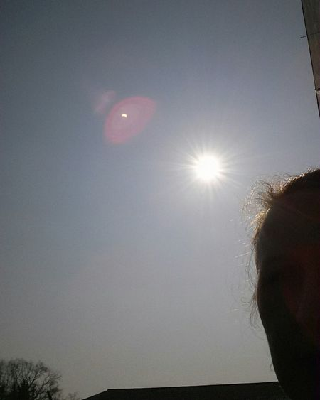 Can you see the eclipse above? Sofi 2015 Solar Eclipse Sofi selfie with sofi.... Eclipse