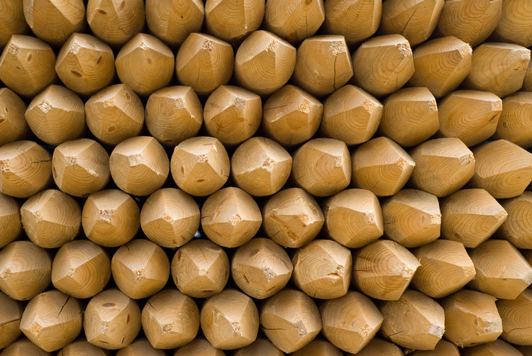 Wood Arranged Arrangement Backgrounds Close-up Day Fencing Posts Full Frame No People Outdoors Pointy Posts Sharpened Stakes Timber Wood - Material Yellow EyeEm Selects