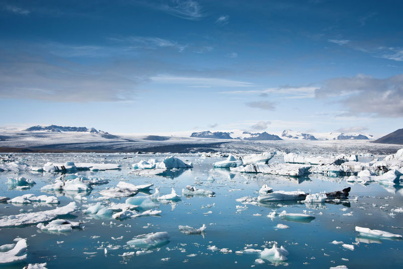 Beauty Beauty In Nature Blue Cold Temperature Day Floating On Water Fracture Frozen Glacier Ice Jökulsárlón Glaciar Lagoon Iceberg - Ice Formation Iceland Landscape Mountain Nature Outdoors Scenics Sea Silence Sky Tranquil Scene Water Jökulsárlón