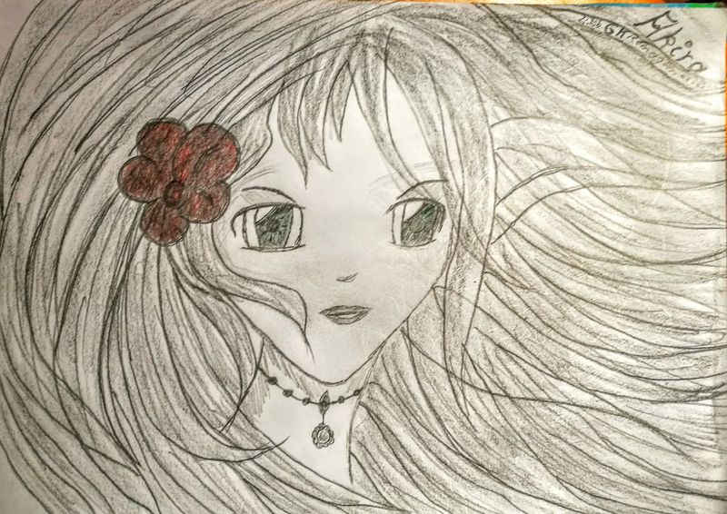"""A new Manga Girl ...I call her...""""Akira""""...enjoy... Check This Out Drawing Taking Photos Relaxing Enjoying Life Art, Drawing, Creativity Picturing Individuality Pivotal Ideas Mangagirl Mangaart Color"""