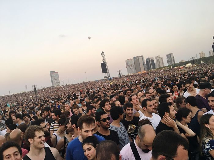 EyeEm Selects Crowd Large Group Of People Togetherness Men Real People Women Outdoors Lifestyles Day City People Sky Adult Adults Only Concert Music Performance Summer Festival Hot Weather Rock Concert Show Park Hayarkon Israel