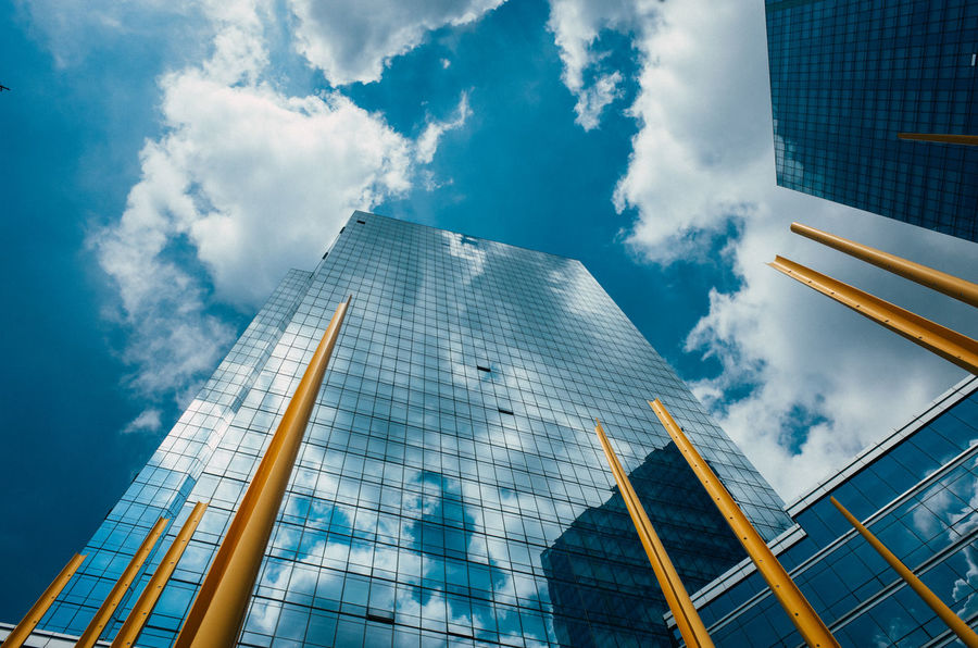 Architecture Architecture Blue Built Structure Capital Cities  City City Life Cloud Cloud - Sky Cloudy Day Development Engineering Low Angle View Modern No People Office Building Outdoors Sky Skyscraper Tall Tall - High Tourism Tower Travel Destinations