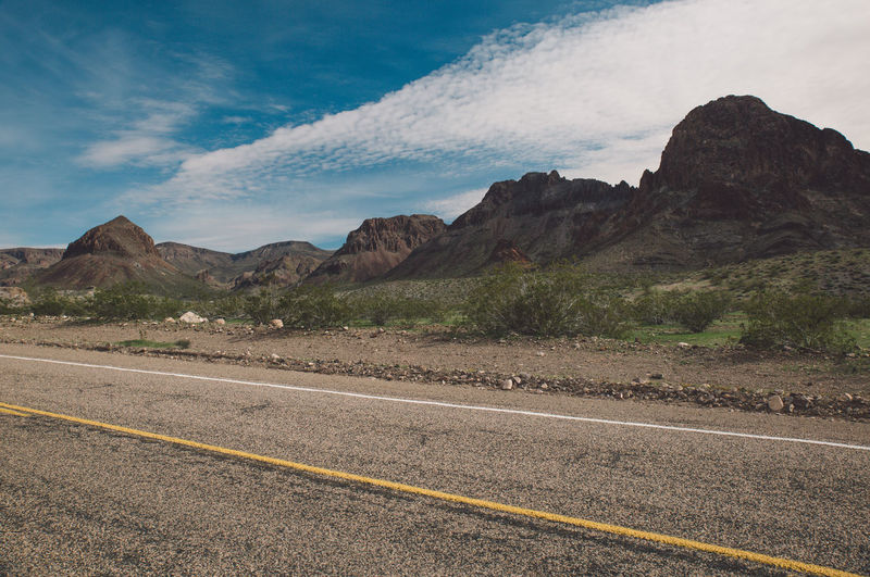 Road By Mountains Against Sky At Route 66