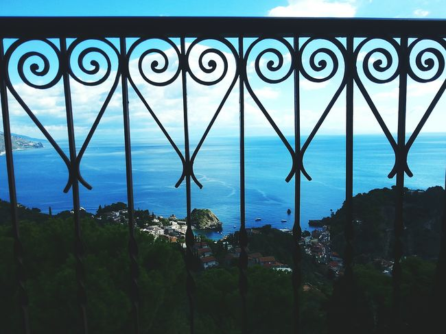 Horizon Over Water Sea From My Point Of View Sea And Sky Hotel View Design Interior From The Balcony Seascape Calm Iron - Metal Close-up ArtWork