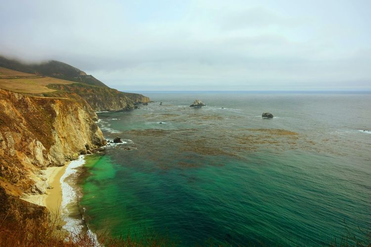 Route 1 Route 1 Sea Horizon Over Water Beach Nature Outdoors Cloud - Sky Landscape Vacations Landscape_photography SONYrx100m3 VSCO USAtrip USA CaliforniaRoadtrip San Francisco Art Beauty In Nature EyeEmBestPics