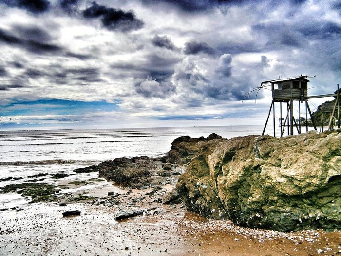 Fisheries Building Fisheries Horizon Over Water Landscape Vacations Travel Destinations Nopeople Beach Cloud - Sky Sand Sea Nature Sky Tranquility Outdoors No People La Bernerie En Retz Loire-atlantique France🇫🇷 HuaweiP9Photography