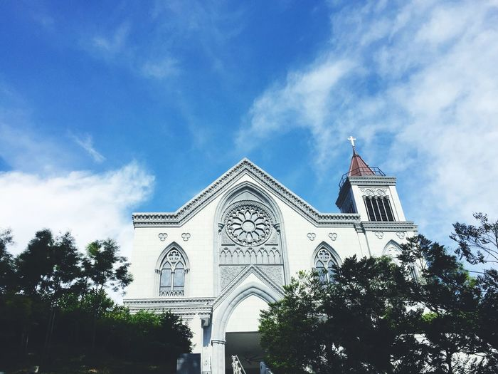 Church Sunny Blue Sky Clear Sky Clear Day Architecture Religious Architecture Place Of Worship Chapel Novena Singapore Beautiful