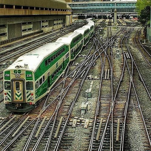 Canadian train. Train Station Unionstation Toronto Canada
