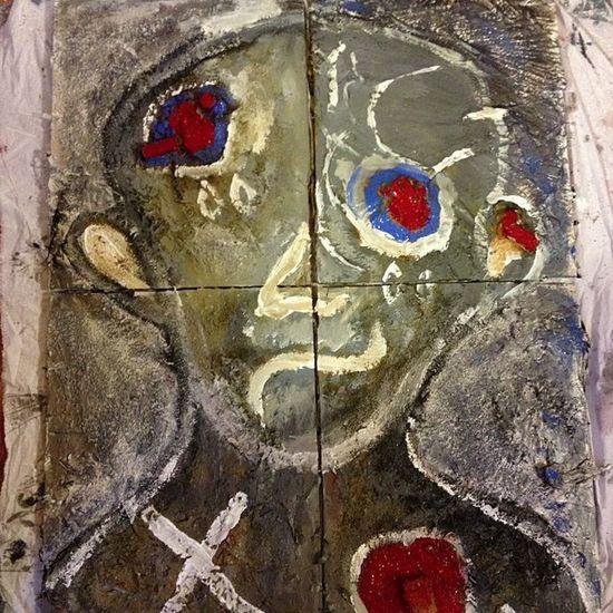 Morfos (sin concluir) 4 piezas en soporte de madera. Arte Art Abstract Pintura pasión painted