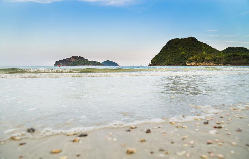 The beach of prachuap khiri khan, ao manao bay, unseen thailand