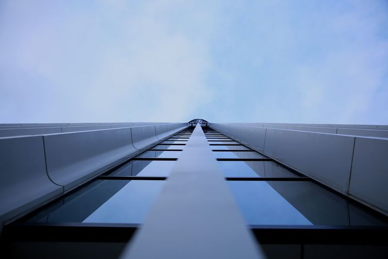 Built Structure Architecture Low Angle View The Way Forward Day Indoors  Sky No People Reflection Glass Straight