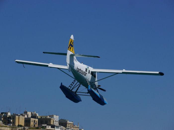 Impressions from island Malta Malta Mediterranean  Airplane Blue Clear Sky Day Flying Malta♥ No People Outdoors Sky Transportation