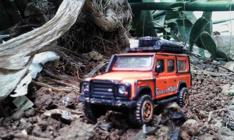 4 x 4 x far Offroad Diecastphotography Diecast DiecastIndonesia Landrover  Landrover Defender Land Vehicle Transportation No People Outdoors Day