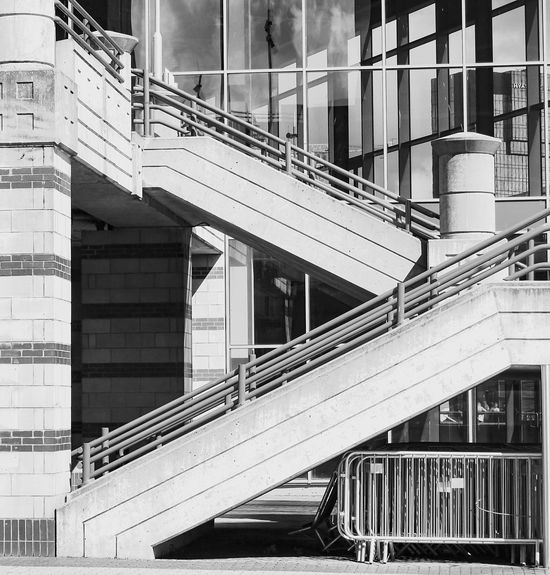 Architecture Architecture Railing Built Structure Steps And Staircases Steps Staircase Building Exterior Stairs No People Day Modern Outdoors Hand Rail EyeEm The Best Shots EyeEm Selects EyeEm Gallery EyeEm Best Shots First Eyeem Photo EyeEmBestPics EyeEmNewHere City Birmingham Manmade Blackandwhite Concrete