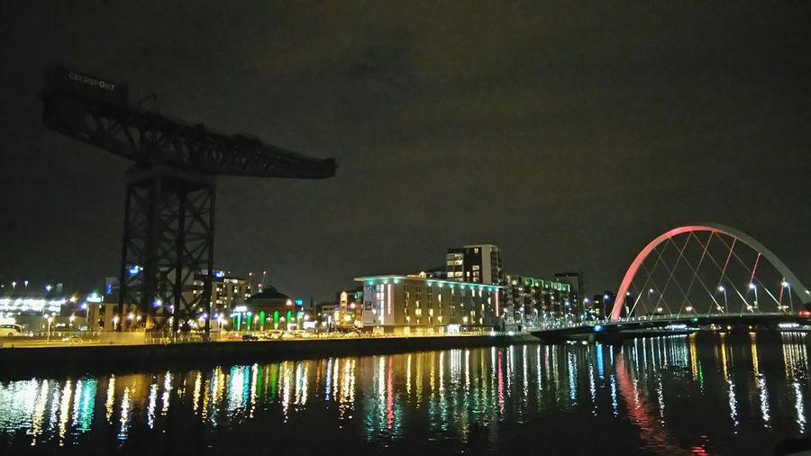 Finnieston Crane River Clyde Glasgow  Night Vision Travel Photography Eyeem Scotland  Eye4photography