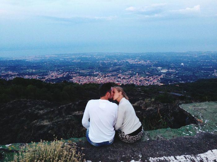 💏kiss KissMe Kiss Love Emotions Landscape Sicily Etna Aspettandoiltramonto You&me