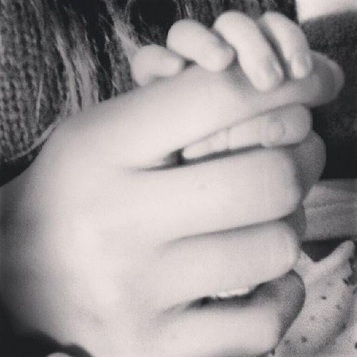 baby brother's hands in mine♥ Brothersisterlove Babylove Babybro Boy