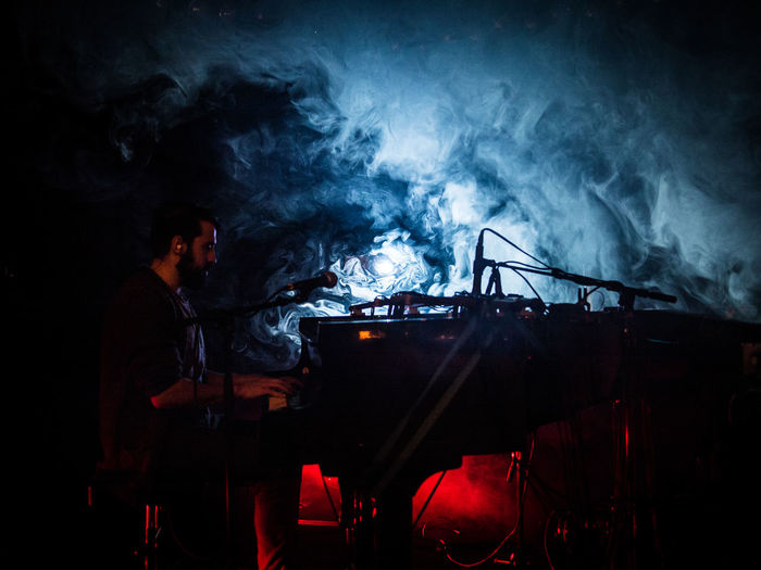 Grandbrothers Live Live Music Concert Concert Photography Piano Pianist Smoke Light Light And Shadow Music Zürich Switzerland Exil The Color Of School Piano Moments