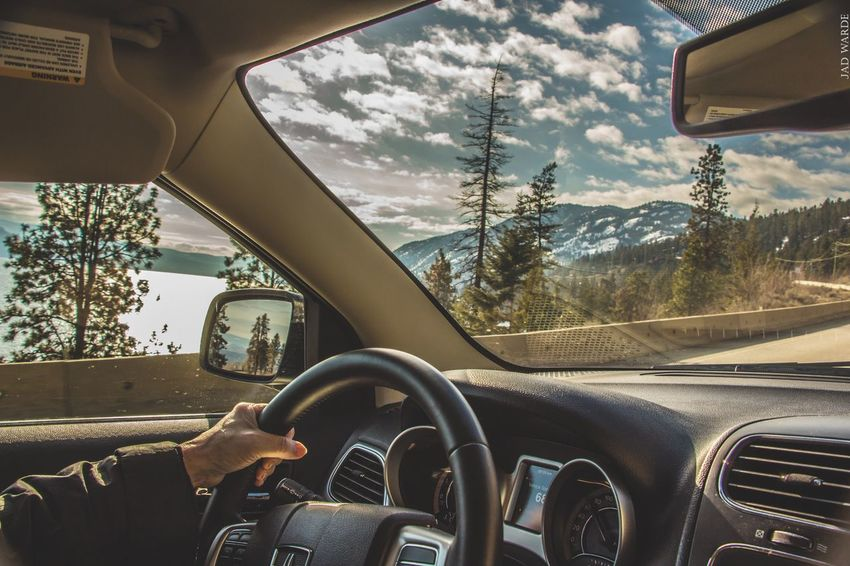 Car Vehicle Interior Transportation Car Interior Windshield Mode Of Transport Sky Cloud - Sky Dashboard Driving Land Vehicle Day Point Of View Steering Wheel Close-up No People Outdoors