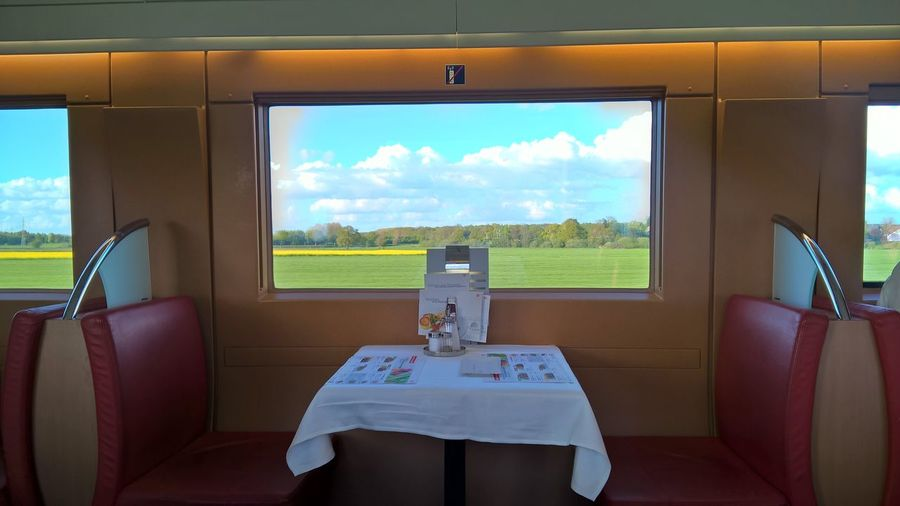 Journey Seat Speed Train Train Restaurant Transportation Travling Trip Vacation Window Window View