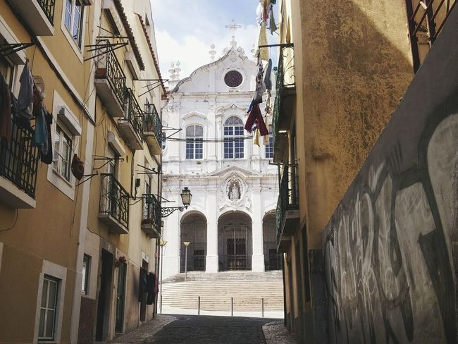 Architecture Built Structure Building Exterior Outdoors Day People Sky City Lisbon Lisboa Church Street Photography The City Light The Architect - 2017 EyeEm Awards